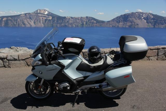 Lake and motorcycle